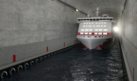 Primeiro túnel do mundo para navios de grande porte será construído na Noruega
